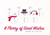 Flurry of Wishes Holiday Cards